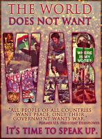 The World Says No More War by AliWithAnEye