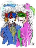 Tragedy and Comedy masks II by hojolabor