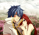 Colored 419_Jellal and Erza by Enara123