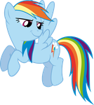 Smirking Rainbow Dash by RedPandaPony