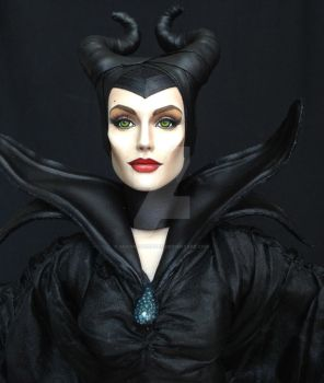 Maleficent Angelina Jolie Custom OOAK Tonner Doll by ShannonCraven