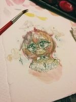Just a quick watercolor doodle!!! by Pastelli-kiwi