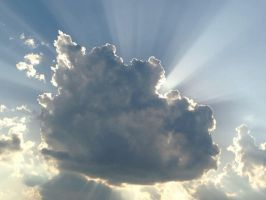 CLOUD WITH SUNRAYS by KerensaW
