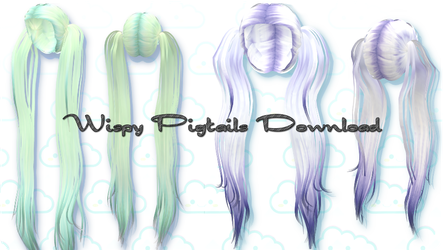 Wispy Pigtails - MMD Download by Shiremide1