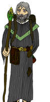 DnD character: Old Wizard by Ikhael