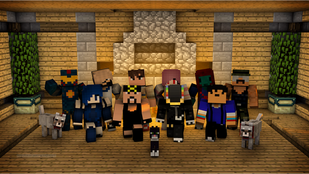 Minecraft Family Photo by DaftPunk2007