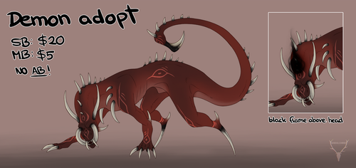 [closed] Demon Adopt by ghoulchris