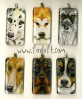 Sumi Glass Pendants Group 14 by Foxfeather248