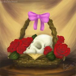 Skull and Roses by ichigoaoi