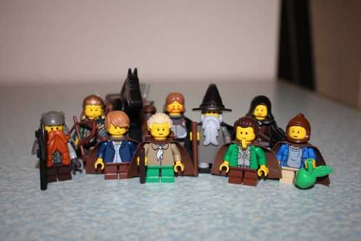 Lego Fellowship Of The Ring by LucifersLego
