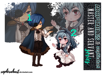 [closed] Chibi Master and Servant Adoptable (2/2) by xephirahart