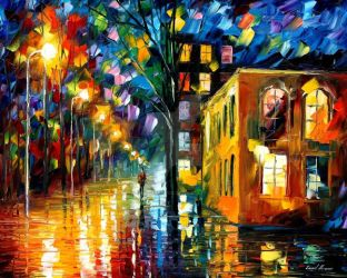 Only Love by Leonid Afremov by Leonidafremov