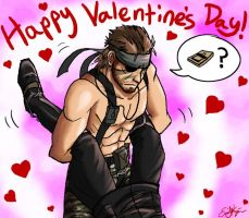 Big Boss and Ocelot Valentine by Emchromatic