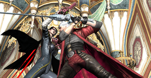 Dante vs Bayonetta Love can't be shattered forever by Hatredboy
