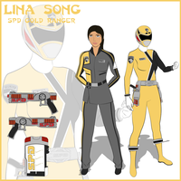 (Fan Art) Lina Song SPD Gold Ranger by CarnivalRanger