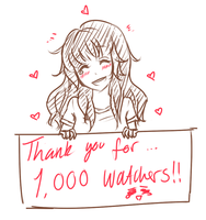 Thanks For 1000 Watchers!!~ by Saracaa