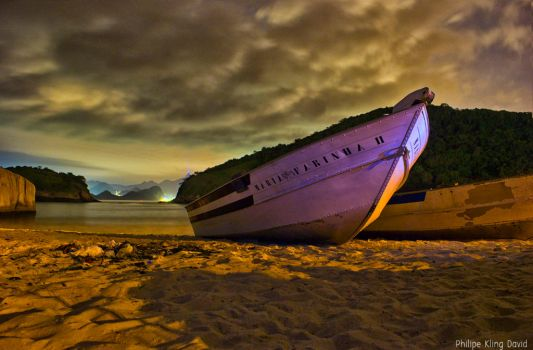 Little boat at night ni Rio by philipe3d