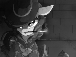 Rarity Investigates: B and W Version by ZodiacZero