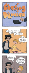 Chasing D'Lucian minicomic 2 by MrWolfeConcoctions