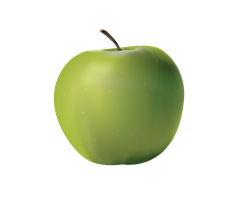 PNG GREEN APPLE by Moonglowlilly