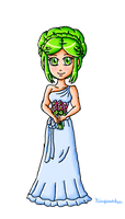 Bridesmaid Palutena by ninpeachlover