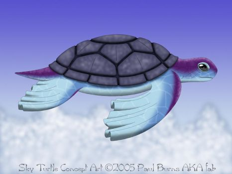 Sky Turtle - Concept Art by fab-wpg