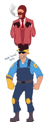 Spy vs Engie by NuclearBandaid