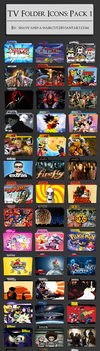 TV Show Folder Icons: Pack 1 by shave-and-a-haircut