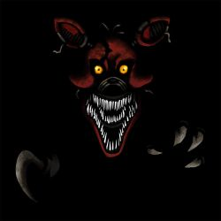 Five Nights at Freddy's FNaF4 Nightmare Foxy alone by kaizerin