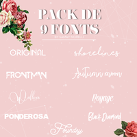 Pack de 9 fonts IR by InterspaceResources