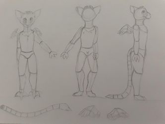 Tory's fursuit desing sketch by roci74