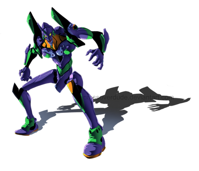 Evangelion Unit 01 by Crudaka
