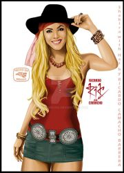 Shakira with Hat2by rickamacho by rickamacho