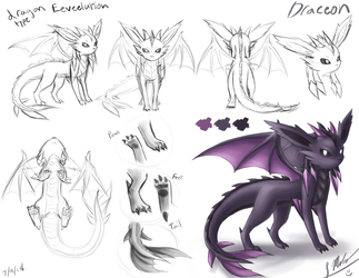My Dragon Type Eeveelution Reference Sheet by ShupaMikey