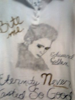 The front of the Edward TShirt by saharapriincesz