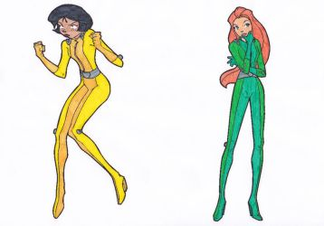 totally spies alex and sam by blackreaper-dusk