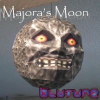 Majora's Moon Papercraft by Bluture by Eddie-Lozano