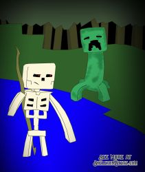 Minecraft Diary of a Creeper 034 by skeletonsteveco
