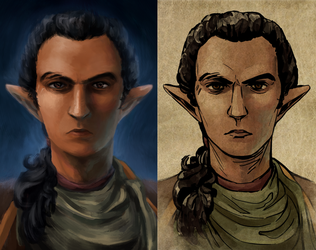 my boy needs a new portrait for POE2 by CalmingSoul