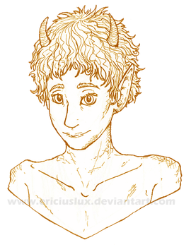 Young faun bust by EriciusLux