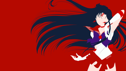 Sailor Mars from Sailor Moon Crystal | Minimalist by matsumayu