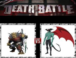 Request #102 Etrigan vs Devilman by LukeAlanBundesen