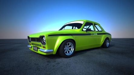 Ford Escort Mk1 Green Outside by Astros