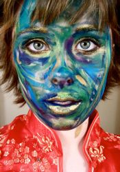 Painted Face by 3vct-3
