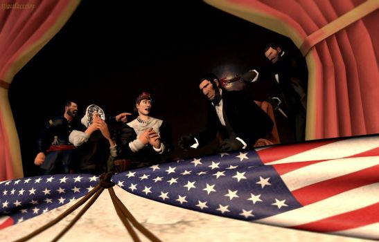 Assassination of Abraham Lincoln - 1865 by tigerfaceswe