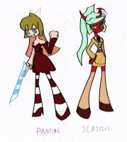 PSG Panting and Scasocks, the fusions. by Keytee-chan
