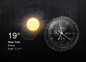 Chronos Clock Weather for xwidget by Jimking