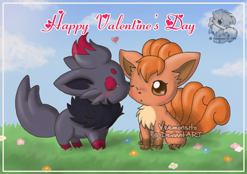 [Fanart] Pokemon Valentine by Veemonsito