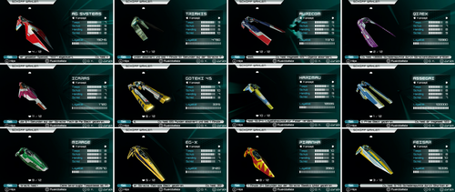WipEout Pulse all concept ships by sonicboom1226