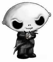 Stewie Skellington by HalloweenBloodyQueen